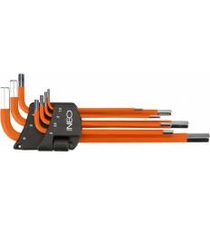 sada klíčů IMBUS 1,5-6mm 7ks tvar L NEO tools