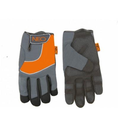"""rukavice pracovní 10,5\"""" syntetická kůže NEO tools"""