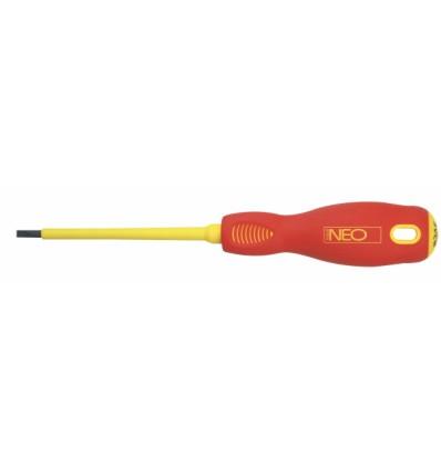 šroubovák plochý 4x100mm 1000V CrMo steel NEO tools