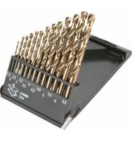 sada vrtáků •1,5-6,5mm 13ks HSS-Co 5% Graphite