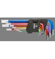 sada klíčů IMBUS 1,5-10mm 9ks color CrV Topex