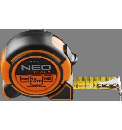metr svinovací 7,5m/25mm ocel nylon magnet NEO tools
