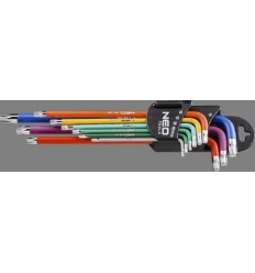 sada klíčů TORX T10-T50 9ks tvar L magnet NEO tools