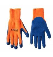 """rukavice pracovní zateplené s texturou akrylové s latexovým povlakem 10 \"""" NEO tools"""