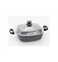 Top Alulit Granit univerzální pekáč indukční černý, 28 x 28 x 8 cm, 4,3 l
