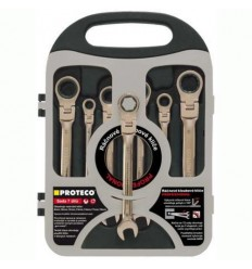 Sada klíčů ráčnových s kloubem PROTECO 42.18-343-772