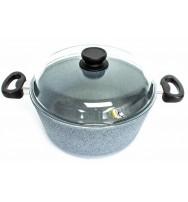 Top Alulit hrnec na těstoviny Granit šedý, indukční 3,8 l