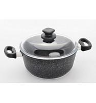 Hrnec na polévku TAQ Granit, Černá