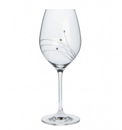 Sklenice na bílé víno, Celebration 360 ml, Swarovski Elements, (2 ks)