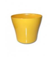 Dekorativní květináč Tulipán 15 cm žlutá