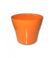 Dekorativní květináč Tulipán 24 cm oranžová