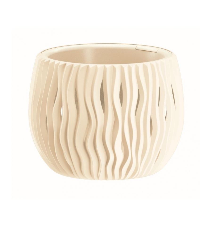Plastové květináče Sandy Bowl krémová Ø 18 cm