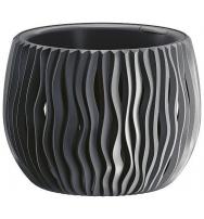 Plastové květináče Sandy Bowl antracit Ø 29 cm