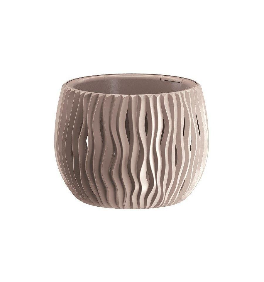 Plastové květináče Sandy Bowl mocca Ø 18 cm