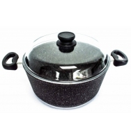 Hrnec s poklicí ProTitan Granit Line 28 cm černý