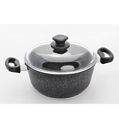 Hrnec na těstoviny TAQ Granit, Černá
