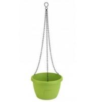 Samozavlažovací závěsný květináč Marina 25 cm hráškově zelená