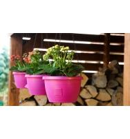Samozavlažovací závěsný květináč Marina 25 cm fuchsie