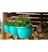 Samozavlažovací závěsný květináč Marina 25 cm tyrkys