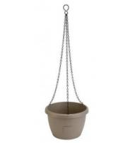 Samozavlažovací závěsný květináč Marina 30 cm taupe