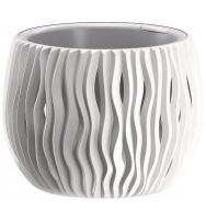 Plastové květináče Sandy Bowl bílá Ø 29 cm