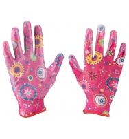 """rukavice zahradní nylonové polomáčené v nitrilu, velikost 7"""""""