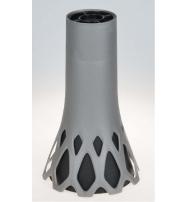 Hřbitovní váza Roseta 1 l - se zátěží, stříbrná