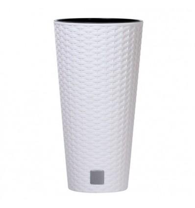 Květináč Prosperplast Rato tubus 25x47,6cm bílý