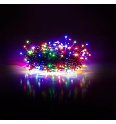 Vánoční řetěz 100 LED 10+5 m mnohobarevná