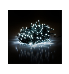 Vánoční řetěz 150 LED 15+5 m studená bílá