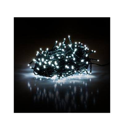 Vánoční řetěz 150 LED 15+5m studená bílá