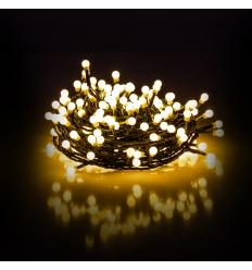 Vánoční řetěz kuličkový 200 LED 20+5 m teplá bílá