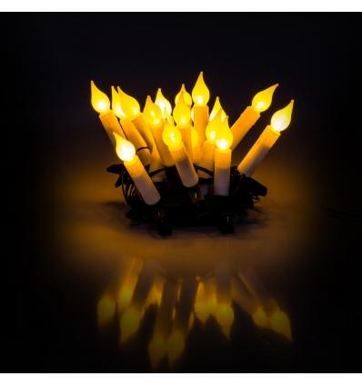 Vánoční řetěz svíčky 5+5 m teplá bílá