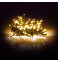 Vánoční napojitelný řetěz 150 LED 15+5 m teplá bílá
