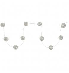 Vánoční LED dekorace koule 10 LED stříbrné, teplá bílá