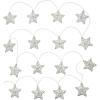 Vánoční LED dekorace hvězdy 16 LED, teplá bílá