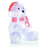Vánoční LED dekorace 16 LED medvěd, studená bílá