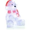 Vánoční LED dekorace, medvěd, studená bílá