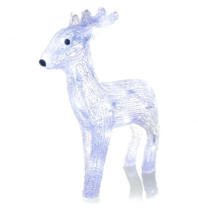 Vánoční LED dekorace jelen 30 LED, studená bílá