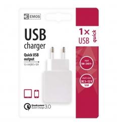 Univerzální USB adaptér do sítě Quick Charge 3.0 (5-12V/3A/18W)