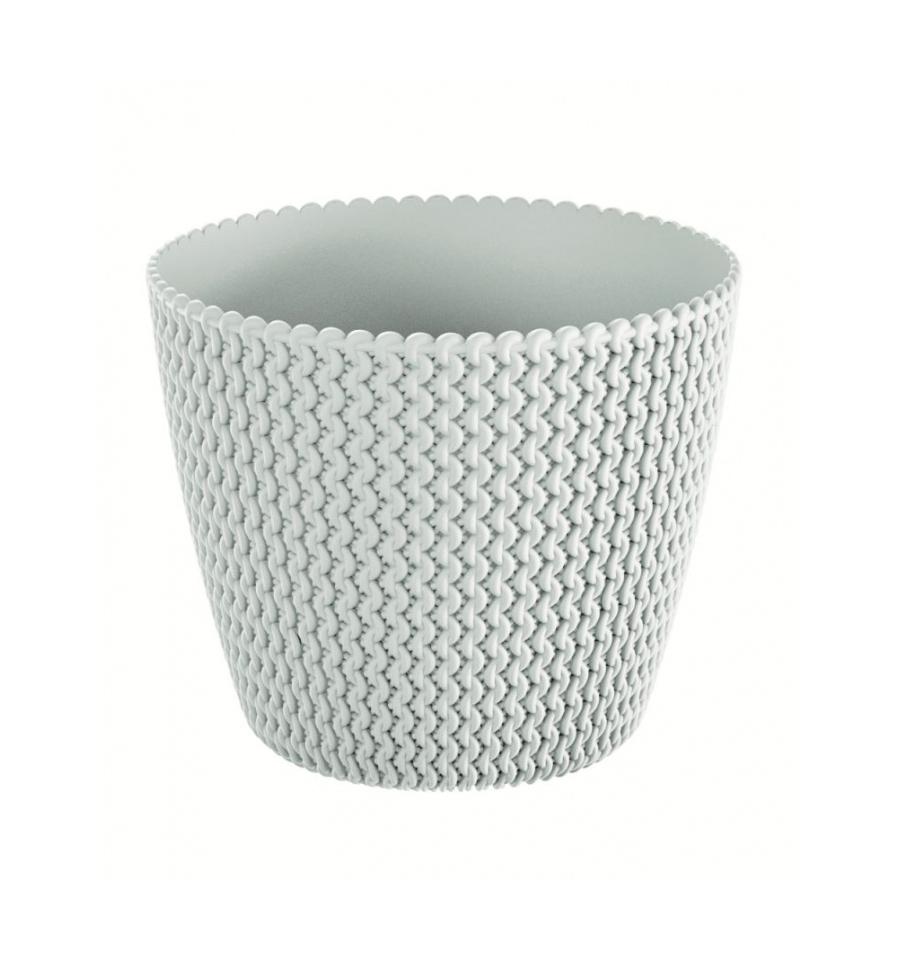Květináč plastový SPLOFY průměr 19 cm bílá