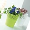 Květináč s krajkou LACE bílý 13,5 cm