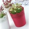 Květináč s krajkou LACE bílý 16 cm