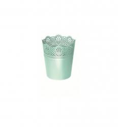 Květináč s krajkou LACE pistácie 16 cm