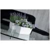 Květináč s miskou 8,2l, bílá-lesk