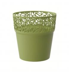 Květináč s krajkou oliva 12,0 cm