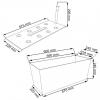 Truhlík samozavlažovací RATO CASE 60x25x24cm, 30l, ratan bílá