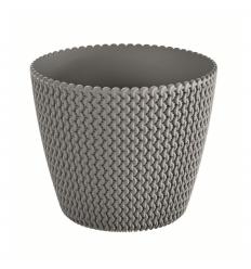 Květináč plastový SPLOFY průměr 19 cm šedý kámen