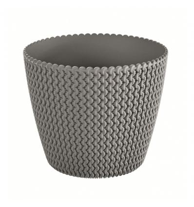 Květináč plastový SPLOFY šedý kámen 22 cm