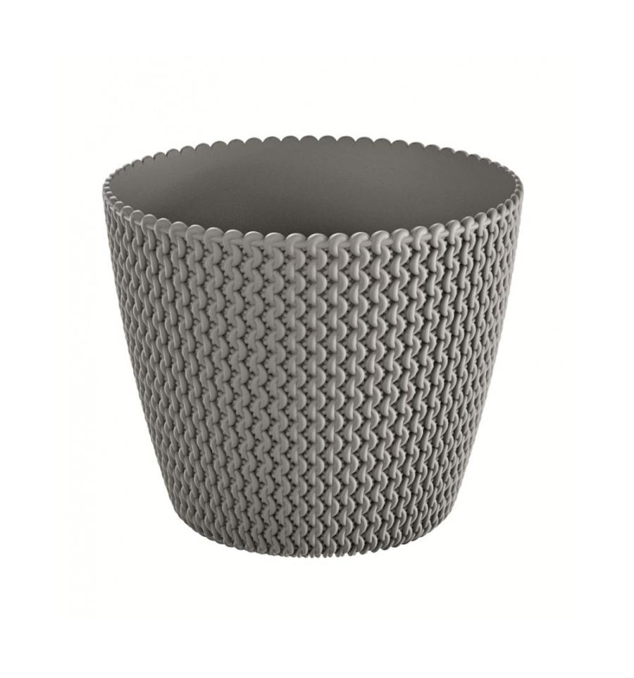 Květináč plastový SPLOFY průměr 22 cm šedý kámen